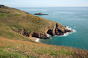 Coastal scenery on the south coast of the Island of Herm, Channel Islands, Great Britain