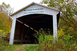 24 October 2017:  Big Rocky Ford Bridge.<br /> <br />  Parke County Indiana is the site of the Indiana Covered Bridge Festival every October