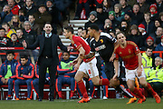 An unhappy Nottingham Forest manager Dougie Freedman  during the The FA Cup fourth round match between Nottingham Forest and Watford at the City Ground, Nottingham, England on 30 January 2016. Photo by Simon Davies.