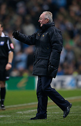 MANCHESTER, ENGLAND - Tuesday, December 18, 2007: Manchester City's manager Sven-Goran Eriksson during the League Cup Quarter Final match against Tottenham Hotspur at the City of Manchester Stadium. (Photo by David Rawcliffe/Propaganda)