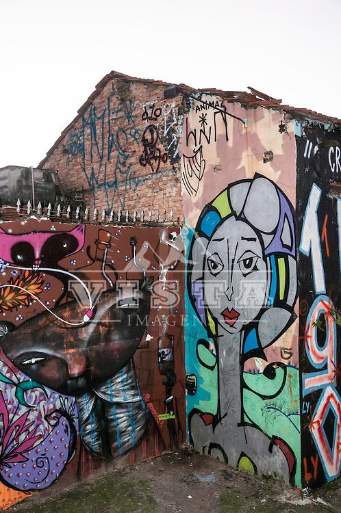 Grafitis no Beco do Aprendiz, Vila Madalena, Sao Paulo, SP, Brasil, foto de Ze Paiva, Vista Imagens.