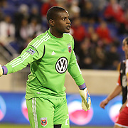 Bill Hamis, the D.C. United goalkeeper, in action during the New York Red Bulls V D.C. United Major League Soccer, Eastern Conference Semi Final 2nd Leg match at Red Bull Arena, Harrison. New Jersey. USA. 8th November 2012. Photo Tim Clayton