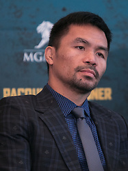 November 20, 2018 - Beverly Hills, California, U.S - Manny Pacquiao along with Adrien Broner at a news conference on Tuesday, November 20, 2018, in Beverly Hills, California. Pacquiao will defend his World Boxing Association welterweight title against Broner on January 19, 2019, in Las Vegas. (Credit Image: © Prensa Internacional via ZUMA Wire)