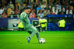Keylor Navas of Real Madrid  during the UEFA Champions League final football match between Liverpool and Real Madrid at the Olympic Stadium in Kiev, Ukraine on May 26, 2018.Photo by Sandi Fiser / Sportida