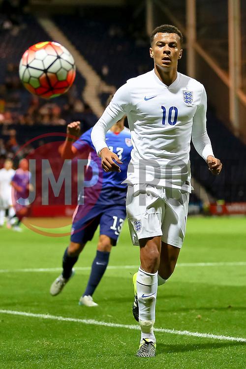 Dele Alli of England U21  - Mandatory byline: Matt McNulty/JMP - 07966386802 - 03/09/2015 - FOOTBALL - Deepdale Stadium -Preston,England - England U21 v USA U23 - U21 International