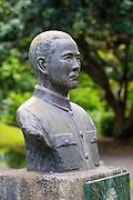 Statue, Dr. Sun Yat-Sen, Kepaniwai Heritage Gardens, Wailuku, Iao Valley, Maui, Hawaii