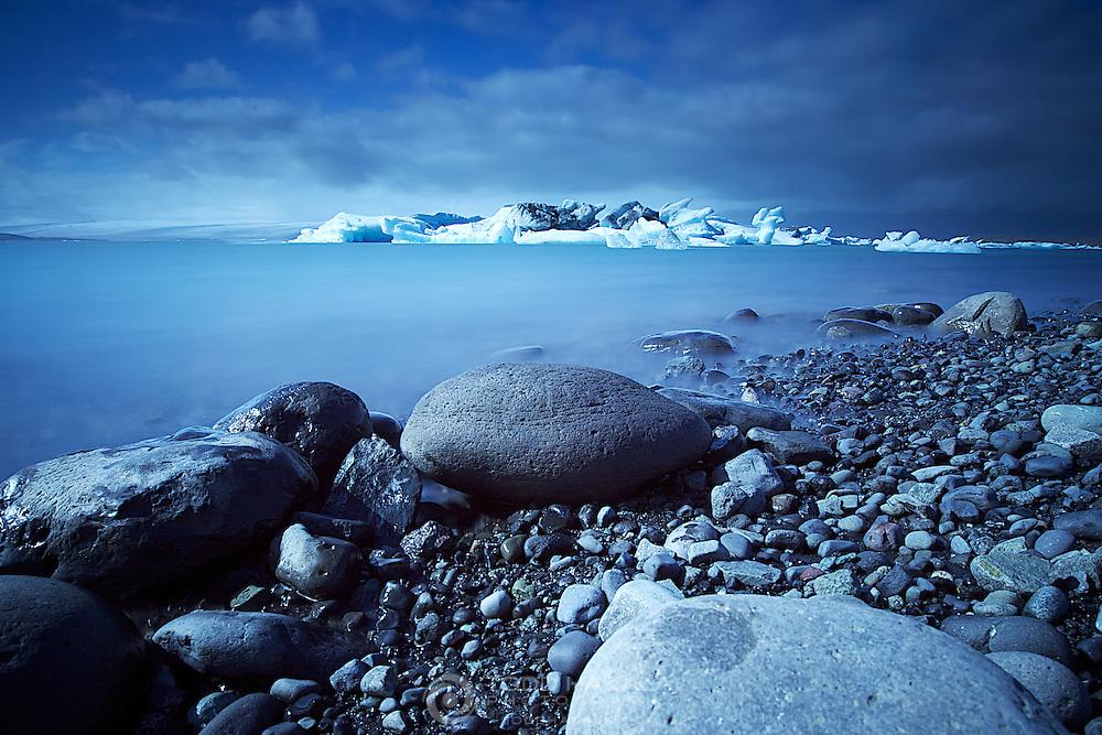Icebergs in Jokulsarlon Lagoon.