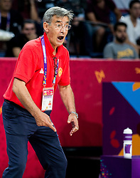 Bogdan Tanjevic, head coach of Montenegro during basketball match between National Teams of Latvia and Montenegro at Day 11 in Round of 16 of the FIBA EuroBasket 2017 at Sinan Erdem Dome in Istanbul, Turkey on September 10, 2017. Photo by Vid Ponikvar / Sportida