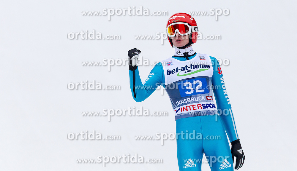 04.01.2014, Bergisel Schanze, Innsbruck, AUT, FIS Ski Sprung Weltcup, 62. Vierschanzentournee, Bewerb, im Bild Richard Freitag (GER) // Richard Freitag (GER) during Competition of 62nd Four Hills Tournament of FIS Ski Jumping World Cup at the Bergisel Schanze, Innsbruck, Austria on 2014/01/04. EXPA Pictures © 2014, PhotoCredit: EXPA/ JFK