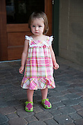Ruby Grace Bowman, 18 months, is pictured in downtown Holland, Mich., during a summer evening on July 7, 2011.