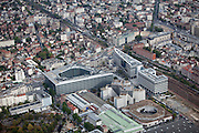 View of office buildings in Colombes ( a commune in the northwestern suburb of Paris, France).