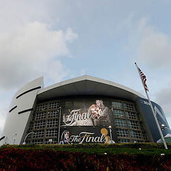 Jun 20, 2013; Miami, FL, USA;  A general view of the American Airlines Arena prior to game seven in the 2013 NBA Finals between the San Antonio Spurs and the Miami Heat. Mandatory Credit: Derick E. Hingle-USA TODAY Sports