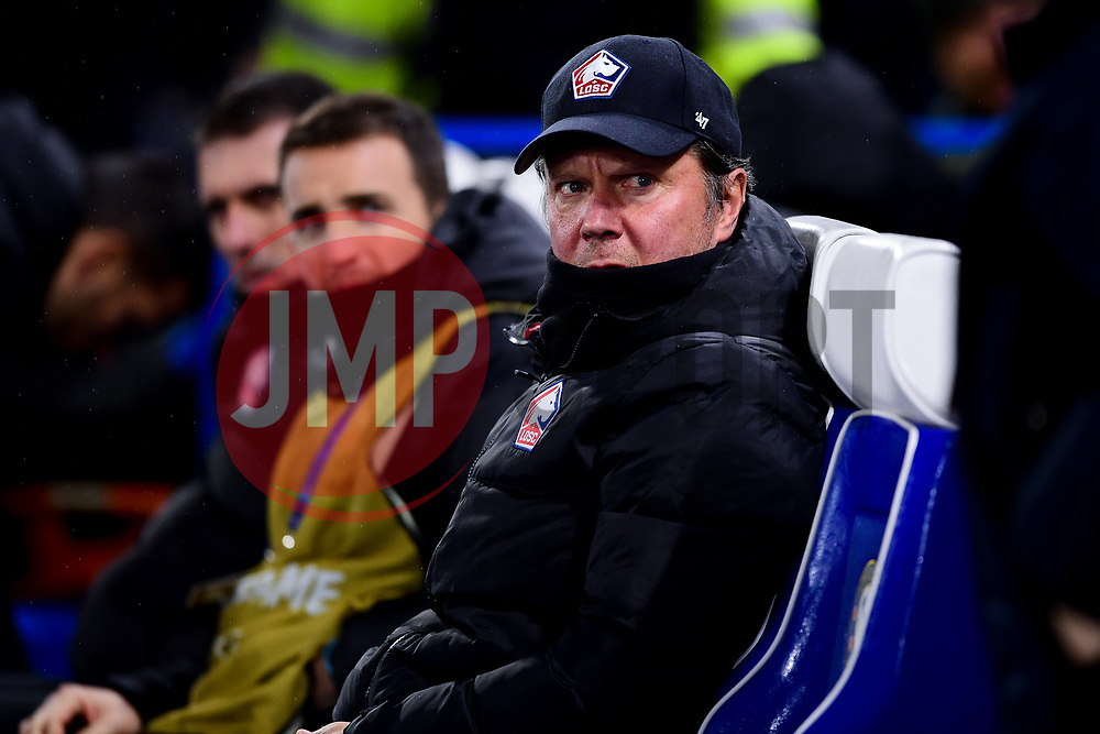 Lille manager Christophe Galtier prior to kick off - Mandatory by-line: Ryan Hiscott/JMP - 10/12/2019 - FOOTBALL - Stamford Bridge - London, England - Chelsea v Lille - UEFA Champions League group stage