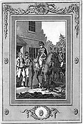 Charles Lee (1731-82) English-born American Revolutionary general captured by British troops 1776. Engraving