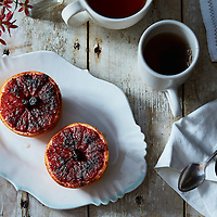 grapefruit brulee with sumac