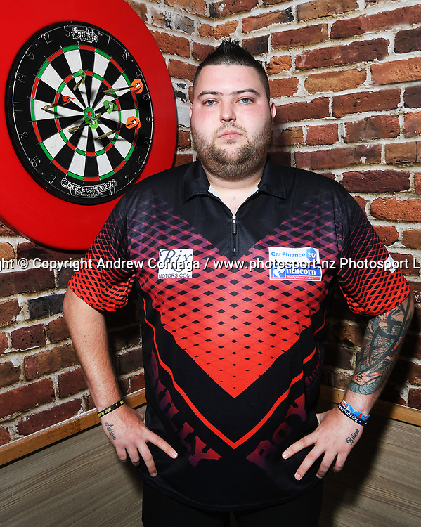 England's Michael Smith aka &quot;Bully Boy&quot;<br /> Auckland Darts Masters press conference and draw. Professional Darts Corporation (PDC). Burger King, Auckland, New Zealand. Thursday 10 August 2017. &copy; Copyright photo: Andrew Cornaga / www.photosport.nz