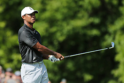 September 2, 2018 - Norton, Massachusetts, United States - Tiger Woods tees off the 16th hole during the third round of the Dell Technologies Championship. (Credit Image: © Debby Wong/ZUMA Wire)
