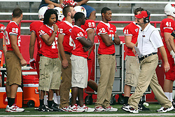 01 September 2012:  Brock Spack walks the sidelines during an NCAA football game between the Dayton Flyers and the Illinois State Redbirds at Hancock Stadium in Normal IL