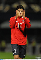 29 February 2012; Tarik Elyounoussi, Norway, after the game. International Friendly, Northern Ireland v Norway, Windsor Park, Belfast, Co. Antrim. Picture credit: Oliver McVeigh / SPORTSFILE