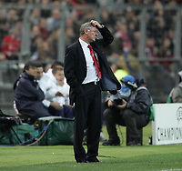 Photo: Lee Earle.<br /> Lille v Manchester Utd. UEFA Champions League.<br /> 02/11/2005. Manchester United manager Sir Alex Ferguson shows his frustration after losing to lille.