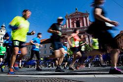 Runners during running race Tek trojk et event Pot ob zici, on May 10, 2014, at Preseren's square in Ljubljana, Slovenia. Photo by Vid Ponikvar / Sportida