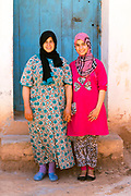 AOULOUZ, MOROCCO May 24th 2016 - Portrait of locals to Agouni n Fad village near Aoulouz, Taliouine & Taroudant Province, Souss Massa Draa region of Southern Morocco.