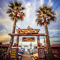 Dory Fishing Fleet Market Picture Newport Beach California. The Dory Fishing Fleet is a historic seafood market by Newport Pier on Balboa Peninsula on America's West Coast in California.