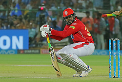 May 8, 2018 - Jaipur, Rajasthan, India - Kings XI Punjab team batsman Chris Gayle plays a shot during the IPL T20 match against Rajasthan Royals at Sawai Mansingh Stadium in Jaipur,Rajasthan,India on 8th May,2018.(Photo By Vishal Bhatnagar/NurPhoto) (Credit Image: © Vishal Bhatnagar/NurPhoto via ZUMA Press)