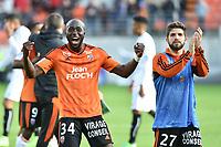 SOCCER : Lorient vs Caen - League 1 - 02/04/2017<br /> Joie de Koffi Erwin (FC Lorient) et Cabot Jimmy (FC Lorient)<br /> Norway only