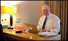 Oct 2012 Boris Johnson Writing His Speech