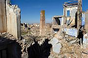 Spanje, Belchite, 11-2-2005..Het stadje Belchite werd in de Saanse burgeroorlog verwoest door de troepen van Franco. Het is als monument bewaard gebleven. Oorlog, dictator, dictatuur..Foto: Flip Franssen/Hollandse Hoogte