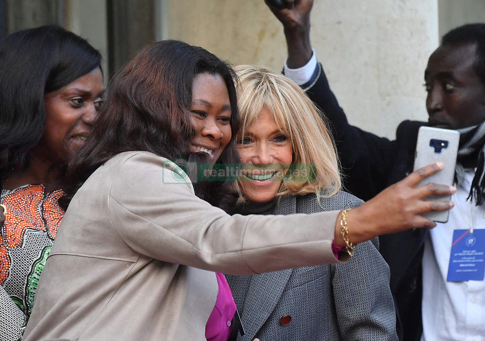 Exclusive - France's first lady Brigitte Macron welcomes the African first ladies at the Elysee presidential palace in Paris, France, on November 12, 2019. Photo by Christian Liewig/ABACAPRESS.COM
