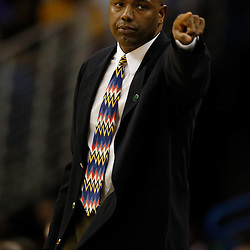 Apr 07, 2010; New Orleans, LA, USA; New Orleans Hornets assistant coach Paul Pressey reacts during the second half against the Charlotte Bobcats at the New Orleans Arena. The Bobcats defeated the Hornets 104-103. Mandatory Credit: Derick E. Hingle-US PRESSWIRE