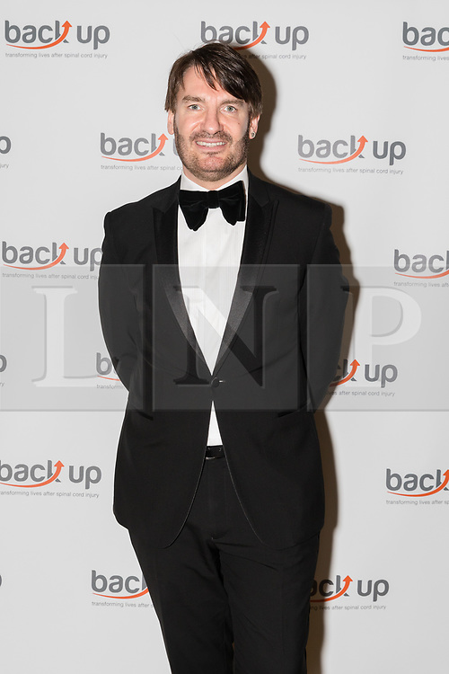© Licensed to London News Pictures. 04/05/2017. LONDON, UK.  ERIC LANLARD, celebrity chef, attends The City Dinner fundraising event for the charity, 'Back Up Trust' at the Marchant Taylor's Hall. 'Back Up Trust' work to inspire independence in people affected by spinal cord injury and help them get the most from their lives, working with people of all ages, from young children to the elderly.  Photo credit: Vickie Flores/LNP