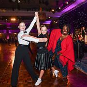 Chizzy Akudolu and dances  at the Paul Killick - Killick Royale Championships 2018 at The Grosvenor House Hotel, London, UK. 7 October 2018.
