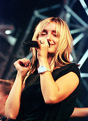 Singer Louise Redknapp on Stage at the Radio Hallam Feel the Noise event held at the Don Valley Bowl Sheffield on August 25th 2001