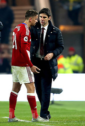 Middlesbrough manager Aitor Karanka looks concerned as Gaston Ramirez of Middlesbrough walks off the pitch injured - Mandatory by-line: Robbie Stephenson/JMP - 05/12/2016 - FOOTBALL - Riverside Stadium - Middlesbrough, England - Middlesbrough v Hull City - Premier League