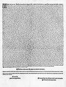 Edict of Faith (reduced version) in Catalan. Published by the Inquisition in Valencia 1512
