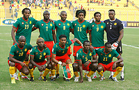 Photo: Steve Bond/Richard Lane Photography.<br /> Cameroun v Zambia. Africa Cup of Nations. 26/01/2008. Cameroon line up