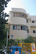Israel, Tel Aviv, Renovated Bauhaus building at 38 Mazeh Street UNESCO has declared Tel Aviv an international heritage site because of the abundance of the Bauhaus architectural style