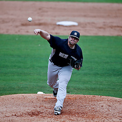 Feb 26, 2013; Clearwater, FL, USA; New York Yankees relief pitcher Joba Chamberlain (62) against the Philadelphia Phillies during a spring training game at Bright House Field. Mandatory Credit: Derick E. Hingle-USA TODAY Sports