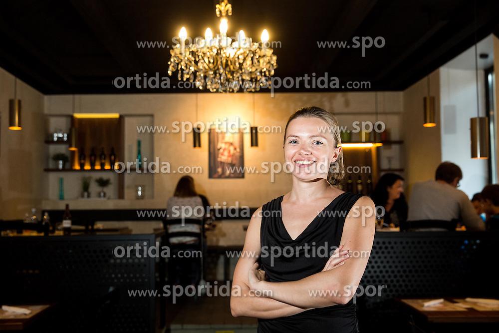 Owner Barbara Hren at Opening of the restaurant Verace Pizza Napoletana, on September 30, 2016 in Streliska 22, Ljubljana, Slovenia. Photo by Vid Ponikvar / Sportida