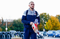 Jordan Nicholls of Bristol Flyers arrives at SGS Wise Arena prior to kick off - Photo mandatory by-line: Ryan Hiscott/JMP - 19/10/2018 - BASKETBALL - SGS Wise Arena - Bristol, England - Bristol Flyers v Plymouth Raiders - British Basketball League Championship