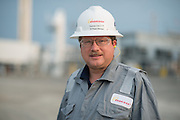 Industrial portrait in east Texas at a gas processing plant.