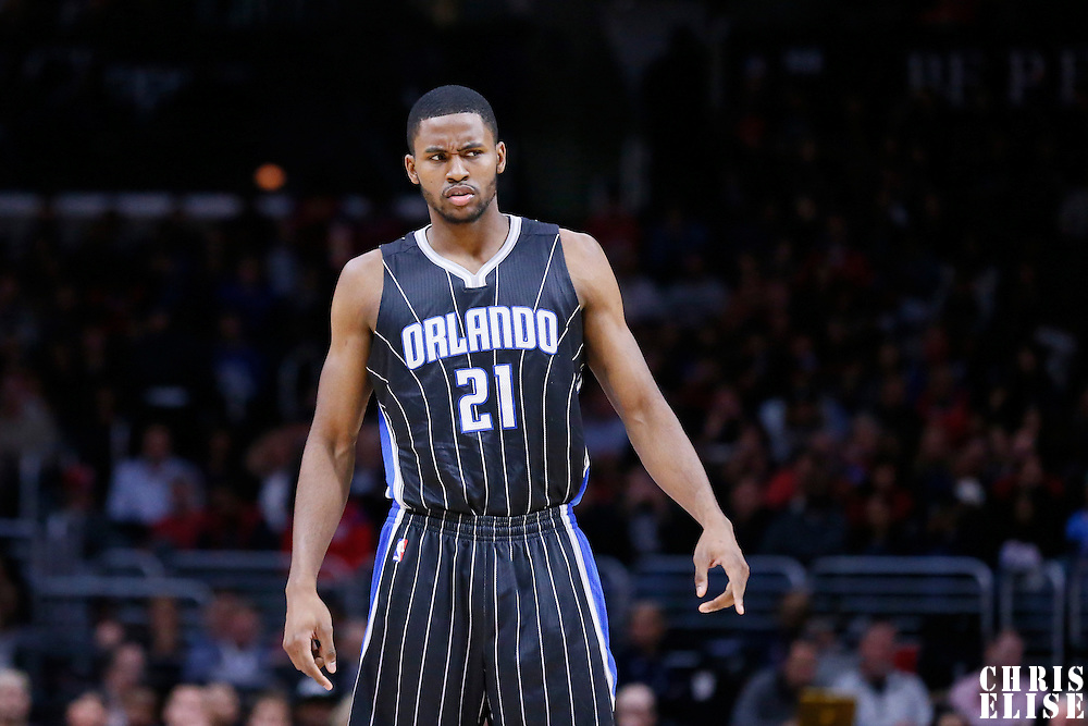 03 December 2014: Orlando Magic forward Maurice Harkless (21) is seen during the Los Angeles Clippers 114-86 victory over the Orlando Magic, at the Staples Center, Los Angeles, California, USA.
