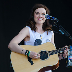 "© Licensed to London News Pictures. 03/08/2012. London, UK.  Amy McDonald performs live at BT London Live, Hyde Park.  Amy Macdonald (born 25 August 1987 in Bishopbriggs, East Dunbartonshire) is a Scottish recording artist. Macdonald rose to fame in 2007 with her debut album, This Is the Life (2007) and its fourth single, ""This Is the Life"". The single charted at number one in six different countries worldwide, and charted inside the top ten in another eleven countries worldwide.  Photo credit : Richard Isaac/LNP"