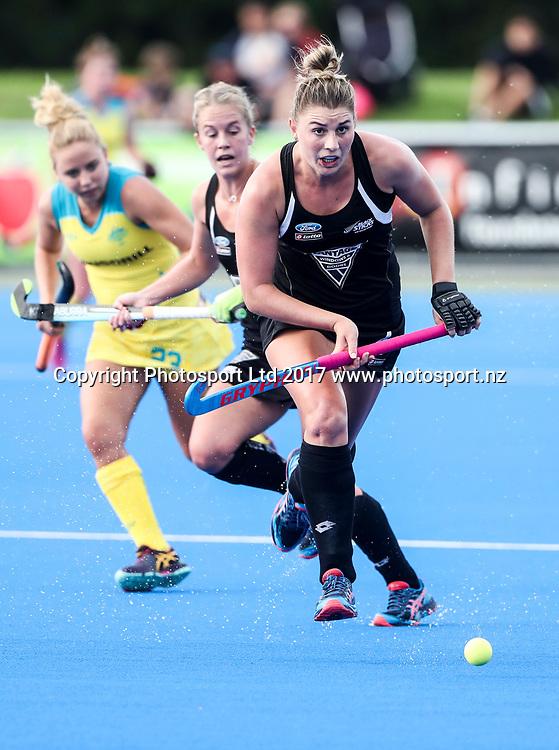 New Zealands Olivia Merry. Black Sticks Women v Australia. Festival of Hockey, Unison Hockey turf, Hastings, New Zealand. Saturday, 01 April, 2017. Copyright photo: John Cowpland / www.photosport.nz