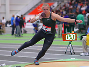 Magdalyn Ewen competes in the shot put final  during the USA Indoor Track and Field Championships in Staten Island, NY, Sunday, Feb 24, 2019. (Rich Graessle/Image of Sport)