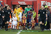 Bradford City midfielder Romain Vincelot (6) leads his team out during the EFL Sky Bet League 1 match between Blackpool and Bradford City at Bloomfield Road, Blackpool, England on 7 April 2018. Picture by Craig Galloway.