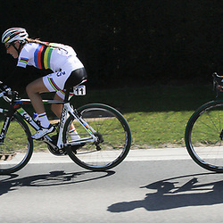 05-04-2015: Wielrennen: Ronde van Vlaanderen vrouwen: Belgie<br /> OUDENAARDE (BEL) cycling<br /> The 3th race in the UCI womens World Cup is the 12th edition of the Ronde van Vlaanderen. The race distance is 145 km with 12 Climbs and 5 zones of Cobbles.<br /> Numbers doesn't matter; (11) Pauline Ferrand Prevot and (13) Anna van der Breggen